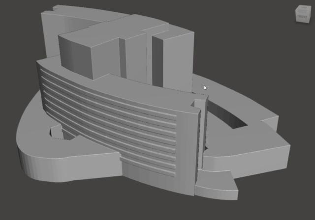 Maqueta Impresión 3D Hospital 12 Octubre